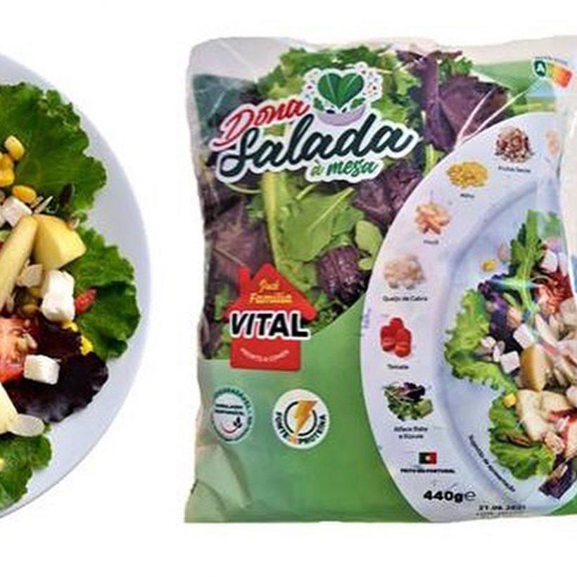 Dona Salada à mesa - Campotec